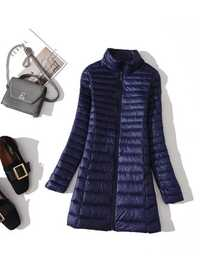 Casual Loose Pure Color Light Down Coats