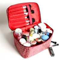 Kcasa KC-MB01 Women Cosmetic Bag Large Capacity Storage Handbag Travel Toiletry Bags Makeup Box