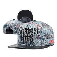 Women Ladies Cotton Floral Flower Adjustable Snapback Baseball Cap Flat Hip-hop Hat
