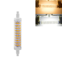 R7S 118MM 10W SMD2835 Warm White Pure White No Stroboscopic LED Corn Light Bulb AC85-265V