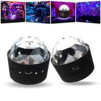 3W Mini Wireless Charging USB Voice Control RGB LED Stage Light For Halloween Christmas Disco Party