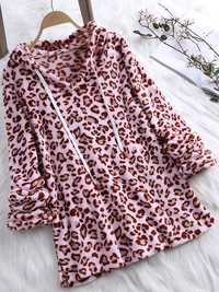 Leopard Print Hooded Sweatshirts