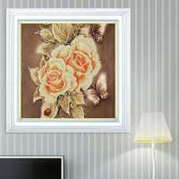 5D Flower Butterfly Rose DIY Diamond Painting Embroidery Cross Stitch Home Decoration