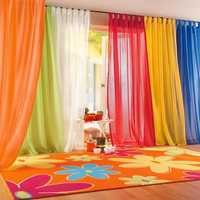 Honana WX-C3 1x2m Pure Colorful Tulle Curtain Panel Window Balcony Room Divider Sheer Curtain Home Decor