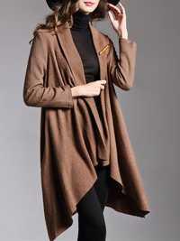 Plus Size Casual Women Woolen Cloak coats