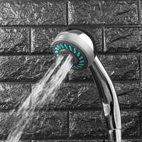 Adjustable Shower Head Three Function Rainfall Bathroom Wall Mount Showerhead ABS