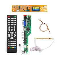 T.RD8503.03 Universal LCD LED TV Controller Driver Board TV/PC/VGA/HDMI/USB+7 Key Button+1pc Lamp Inverter