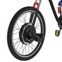 iMortor 2.0 700C V Brake 350W 24V Brushless Motor Intelligence Bicycle Front Wheel with Battery Digital Display Speed Shifter