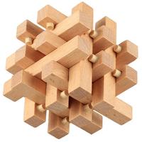 Kong Ming Lock Toys Assembling 3D Puzzle Cube Children Kids Challenge IQ Brain Wood Toy