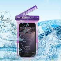 Universal Waterproof Bag With Comb Mirror Transparent Window For Cell Phone Under 6 Inch