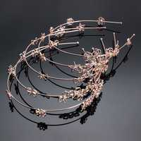 Women Girl Flower Star Butterfly Rose Shape Rhinestone Headpiece Jewelry Headbrand
