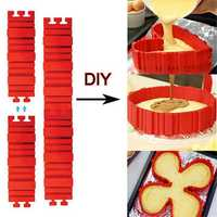 Honana CF-BW10 4 Pcs Silicone Magic Cake Mold DIY Baking Square Rectangular Heart Shape Cake Mould