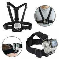BIKIGHT Head Helmet Strap Chest Harness Adjustable Mount For GoPro Accessories GoPro 3+/4/5/6