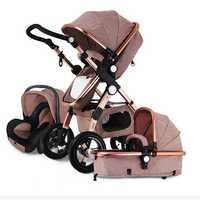 Banggood 3 IN 1 Multifunction Baby Stroller High View Pram Foldable Pushchair Bassinet Car Seat