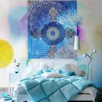 Indian Mandala Tapestry Wall Hanging Blue Sofa Cover Bohemian Bedspread Home Decor
