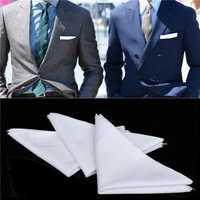 12x Mens Women White Pocket Cotton Handkerchiefs Hankie Hanky Sweat Face Towel