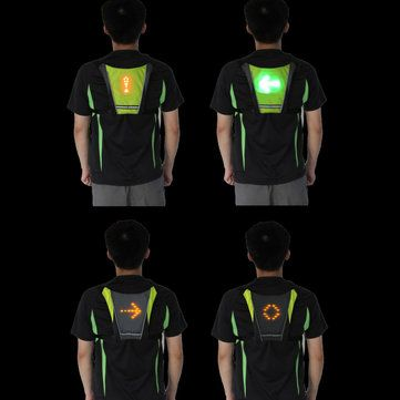 BIKIGHT LED Riding Wireless Remote Control Turn Signal Warning Light Vest For Cycling Running