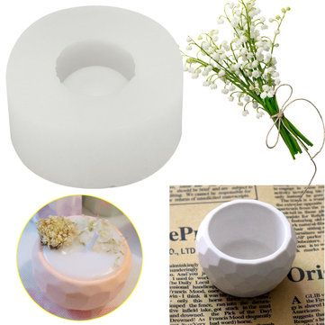 3D Handmade Silicone Candle Soap Flower Pot Mould Casting Concrete Cup Mould