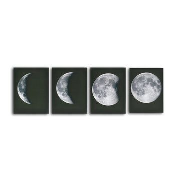 4pcs Abstract Moon Canvas Print Wall Art Painting Pictures Home Decorations Poster Frame