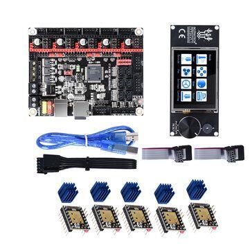 BIGTREETECH 5Pcs TMC2280 V3.0 DIY Options Drivers + SKR V1.3 32Bit Controller Board + TFT24 Touch Screen Kit for 3D Printer Parts
