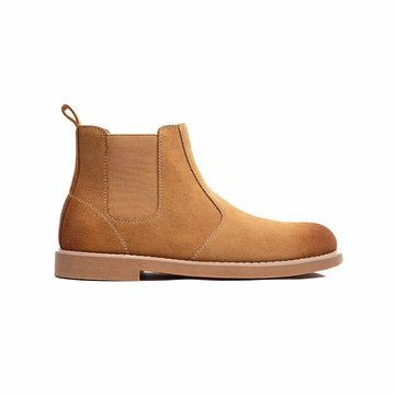 MAISHI Leather Chelsea Boots Natural Cork Insole Comfortable Winter Warm Shoes Casual Snow Boots From Xiaomi Youpin
