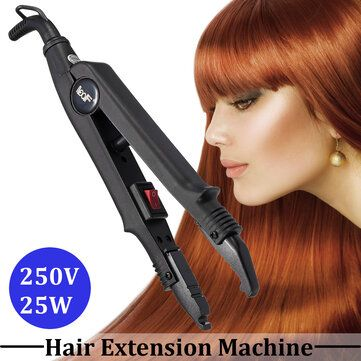 Hair Straightener Extension Fusion Iron Keratin Bonding Tools Heat Connector
