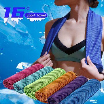 KCASA 30x90cm 16℃ Microfiber Portable Quick drying Sports Towel Travel Jogger Cloth Camping Swimming Gym Washcloth