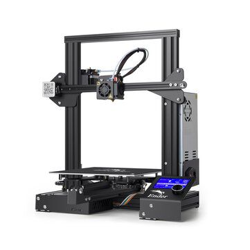 Creality 3D® Ender 3 Prusa I3 DIY 3D Printer Kit 220x220x250mm Printing Size With Power Resume Function/V Slot with POM Wheel/1.75mm 0.4mm Nozzle