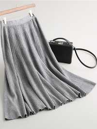 Pure Color Women Knit Skirt