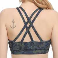 Cross Beauty Back Shockproof Fitness Sports Bra