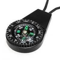 Survival Mini Compass Scale Type With Water Hang Rope Random Color