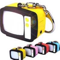 Luminous Sound Retro TV LED Key Chain Color Optional