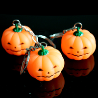 Pumpkin Bright Light LED Key Chain Halloween Toy gift