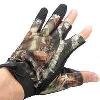 3 Cut Finger Anti-Slip Camouflage Fishing Hunting Gloves Waterproof