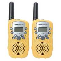 T-388 0.5W UHF Auto Multi-Channels Mini Radios Walkie Talkie Yellow