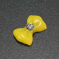 20PCS 3D Glitters Bow Tie Bowtie Rhinestones Nail Art Tips Decoration