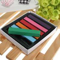 6pcs Non-toxic Temporary Pastel Square Hair Chalk High Quality