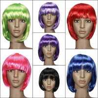 Ladies Cosplay BOB Style Short Straight Hair Wigs