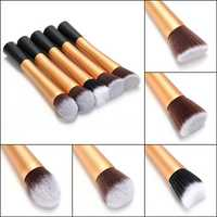 Professional Fiber Stipple Powder Foundation Blush Brush