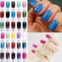 OUJINGJIA 001-030 Glitter Colors Soak Off UV Gel Nail Polish 15ML