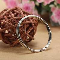 96-100Pcs 25mm Metal Split Rings Nickel Steel Hoop Key Rings