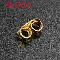 50PCS Gold Plated Butterfly Earring Backs Plug Fingding