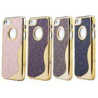 Luxury Deluxe Gold Chrome S Line Back Hard Case For iPhone 5 5G 5S