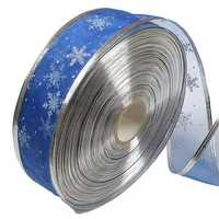 Blue Silver Serging Ribbon Christmas Trees Decoration Supplies