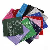 Dacron Paisley Bandanas Double Sided Head Wrap Scarf