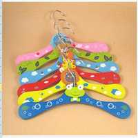 Children Wooden Hangers Baby Cartoon Wood Hangers
