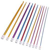 11pcs Aluminum Crochet Lead Hooks Colorful Knitting Needle Craft Kit