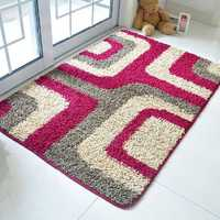 Suede Absorbent Bathroom Door Mats Slip Resistant Feet Mats