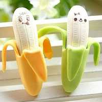Novelty Stationery Banana Expression Erasers For Kids 2 Pcs
