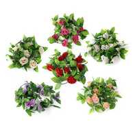 2.5m Artificial Silk Rose Flower Garland Party Home Decor